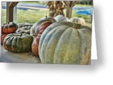 Strange Pumpkins Greeting Card