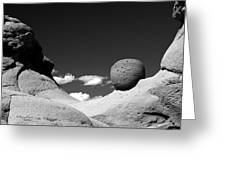 Strange Rocks 30 Bw Greeting Card