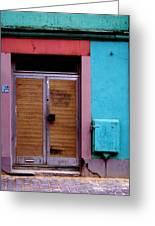 Strasbourg Door Greeting Card