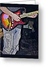 Strat Man  Greeting Card by Chris Berry