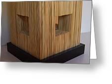 Straw Cube Greeting Card by Daniel P Cronin