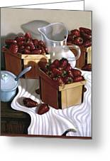 Strawberries And Cream 1997 Greeting Card