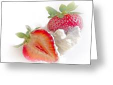 Strawberries And Cream Greeting Card