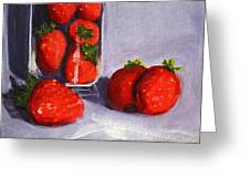 Strawberries And Glass Greeting Card