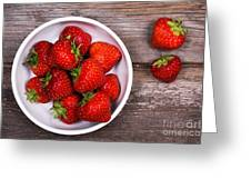 Strawberries Greeting Card by Jane Rix