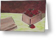 Strawberry Basket Greeting Card