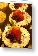 Strawberry Blueberry Tarts Greeting Card