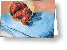 Strawberry Bowl Greeting Card
