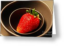 Strawberry In Nested Bowls Greeting Card