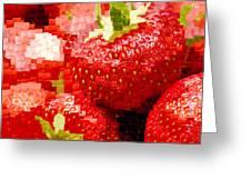 Strawberry Mosaic Greeting Card