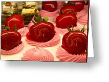 Strawberry Mousse Greeting Card