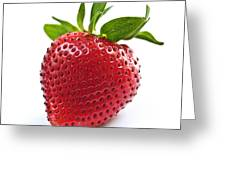 Strawberry On White Background Greeting Card