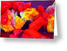 Strawberry Shortcake Greeting Card by Michael Sokalski