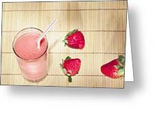 Strawberry Smoothie Greeting Card