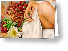 Strawberry Woman Greeting Card