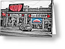 Strawn's Eat Shop Greeting Card