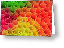 Straws In Color Greeting Card