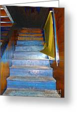 Stray Breeze On The Stairs Greeting Card