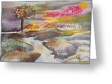 Stream In Early Winter Greeting Card