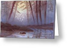 Stream In Mist Greeting Card