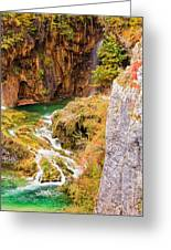 Stream In The Mountains Greeting Card