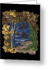 Stream Of Tranquility Greeting Card by Anita Jacques