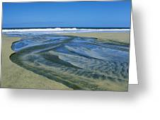 Stream On Beach Greeting Card