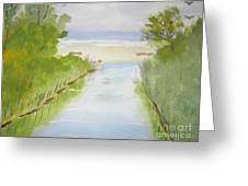 Stream Running To The Ocean Greeting Card