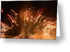 Streaming Balls Of Fire Greeting Card