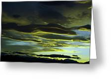 Streaming Clouds  Greeting Card