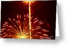 Streaming Fireworks Greeting Card