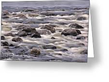 Streaming Rocks Greeting Card