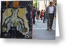 Street Art And Street Scene London Greeting Card