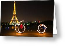 Street Artists In Paris Greeting Card