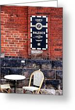 Street Cafe Greeting Card by Valentino Visentini