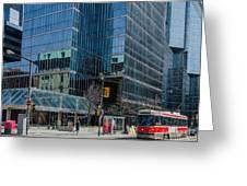 Street Car In Toronto Greeting Card