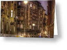 Street Corner Budapest Greeting Card