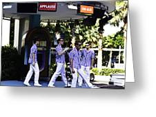Street Entertainers In The Hollywood Section Greeting Card