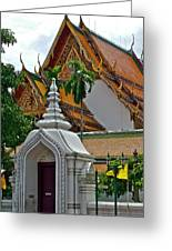 Street Entry To Wat Po In Bangkok-thailand Greeting Card