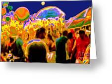 Street Festival At Night Greeting Card