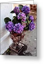 Street Flowers Greeting Card