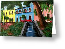 Street Hill In Old San Juan Greeting Card