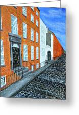Street In Dublin Greeting Card