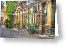 Street In Ghent Greeting Card