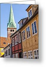 Street In Helsingor Denmark Greeting Card