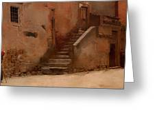 Street In Italy Greeting Card