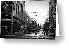 Street In Melbourne  Greeting Card