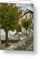 street in old Albaycin in Granada Greeting Card