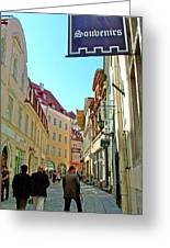 Street In Old Town Tallinn-estonia Greeting Card