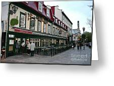 Street In Quebec Greeting Card